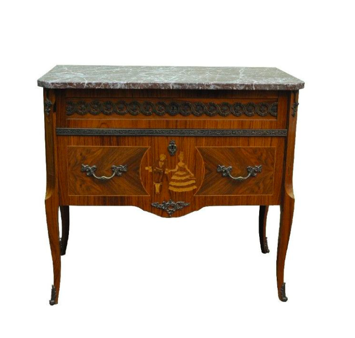 Vintage Dresser with Marble Top from  Pamono