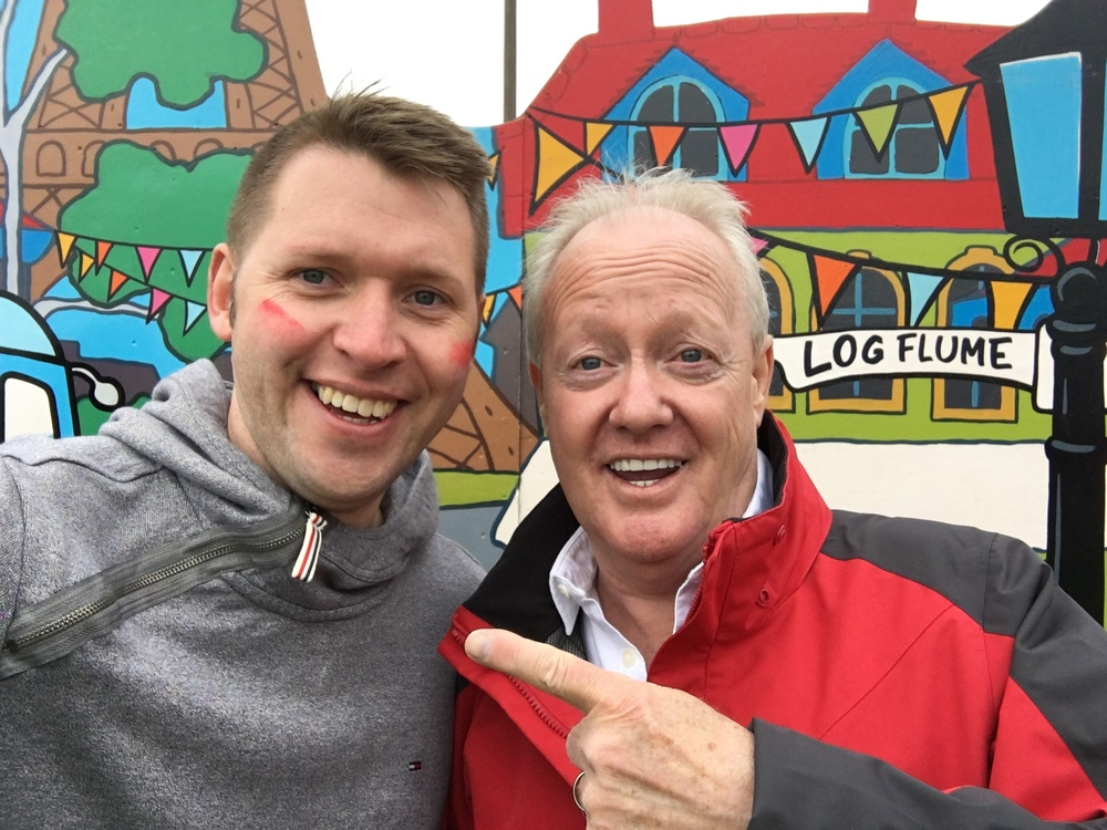 Orchard MD Gareth with Keith Chegwin