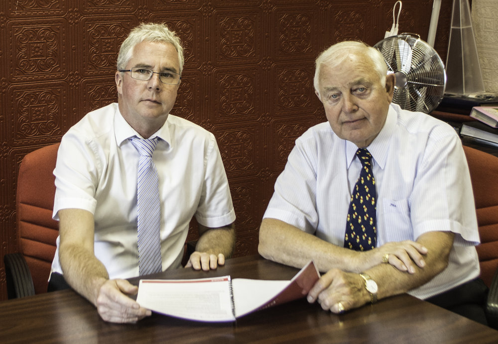 Peter McVeigh and Jonathan Sheard of Status International (UK) Ltd
