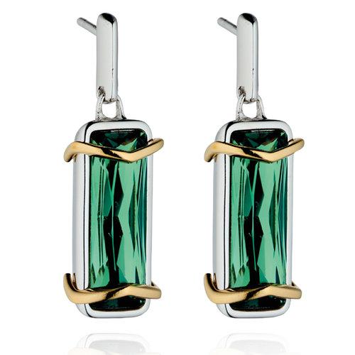 07577d4285b Fiorelli Silver Green Swarovski Crystal Earrings — Marchbank Jewellery