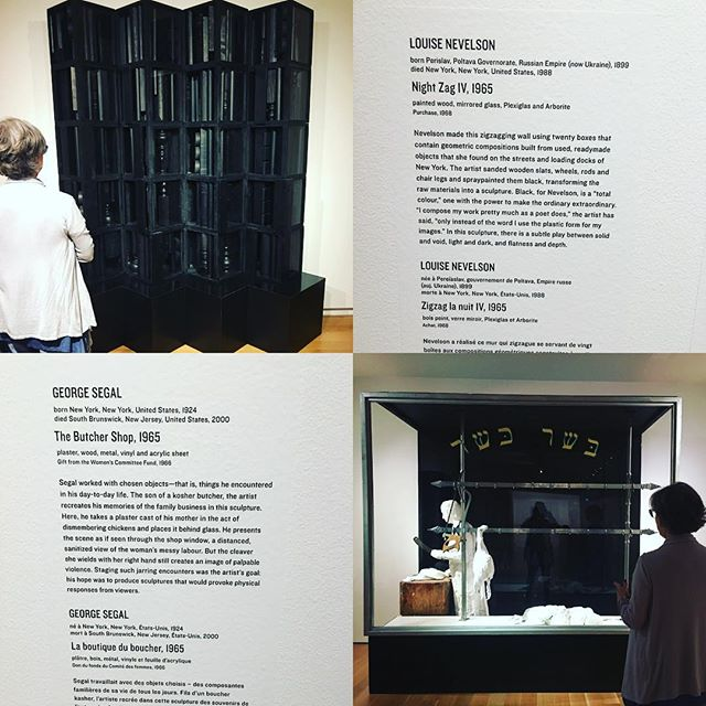 Gilda's Club at AGO today continued our exploration of modern art mid century. #arthistory20thcentury #artreflectsthetimes #midcenturyartists #georgesegal #louisenevelson  #americanmodernism #modernartists #modernartwork