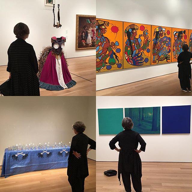 Discovering First Nations Contemporary artists in the reinstalled Canadian wing at AGO with Gilda's Club this week. There is so much to learn and discuss. #rebeccabelmore #norvalmorrisseau #roberthoule #ruthcuthand