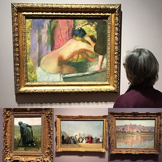 On a cold, blustery day, Gilda's Club art enthusiasts headed to the Art in Europe in the 1800s gallery at AGO. #eyecandy #edgardegas #vangogh #eugeneboudin #claudemonet #impressionism