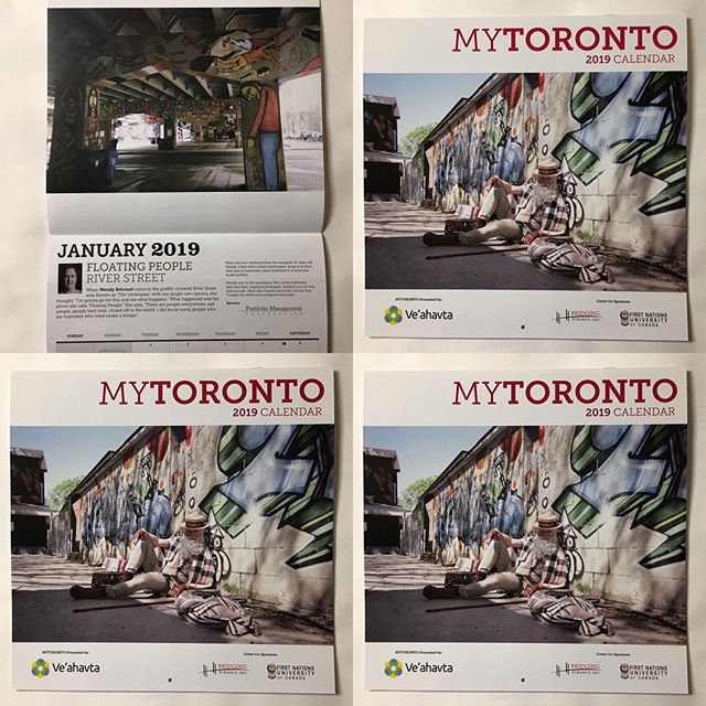 Put up my 2019 MyTORONTO calendar. Great project with exciting results: creatively, artistically and practically. #mytoronto #veahavta #photographyproject #themeSTRENGTH #2019calendar