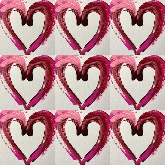 Heart Throbs #heartbeats #theartofheart #lovemagentas #lovemarroon #artcards