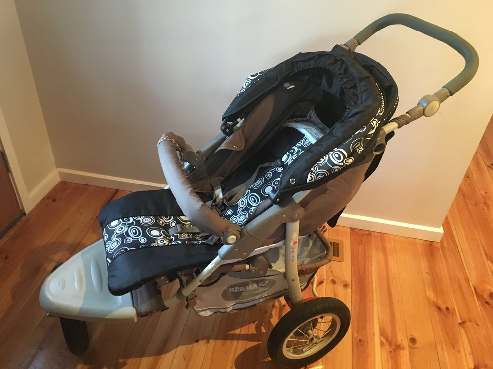 Our seldom used jogging pram