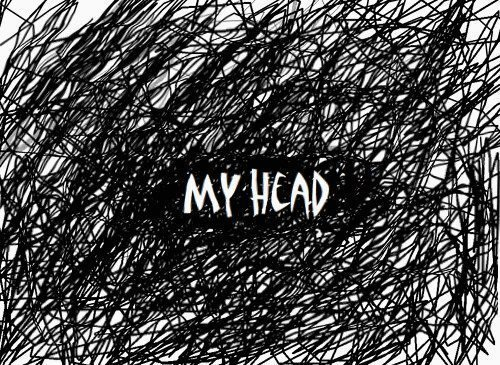my-head scribble on page