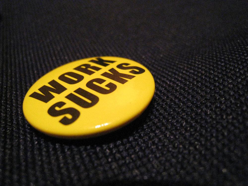 work sucks button