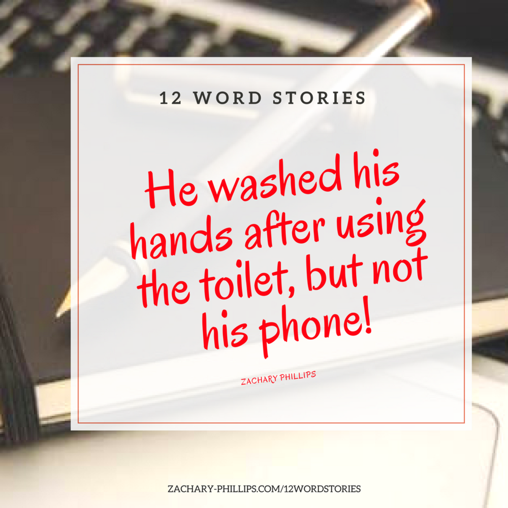 He washed his hands