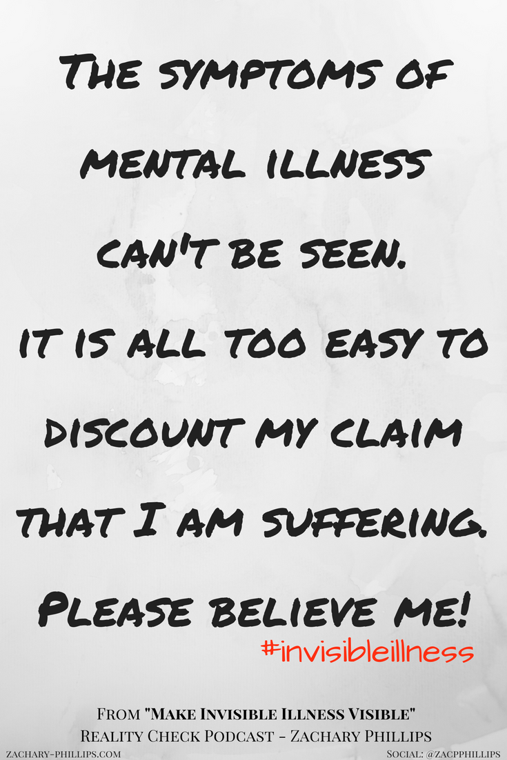invisible illness can't be seen