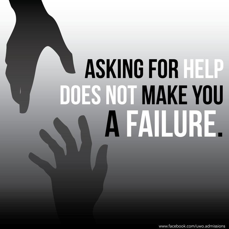 The importance of seeking help