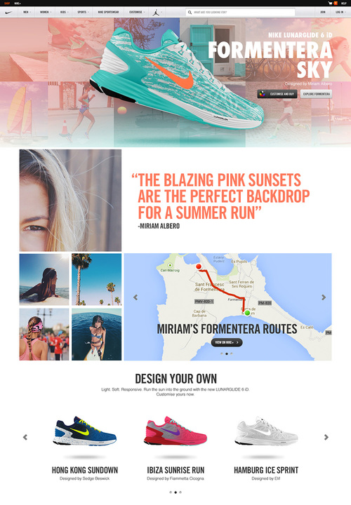 timeless design fc5d4 7bc40 Social listening on Facebook rewarded girls with surprise and delight  prizes, including pairs of destination Lunarglide 6 shoes and Nike ID codes.
