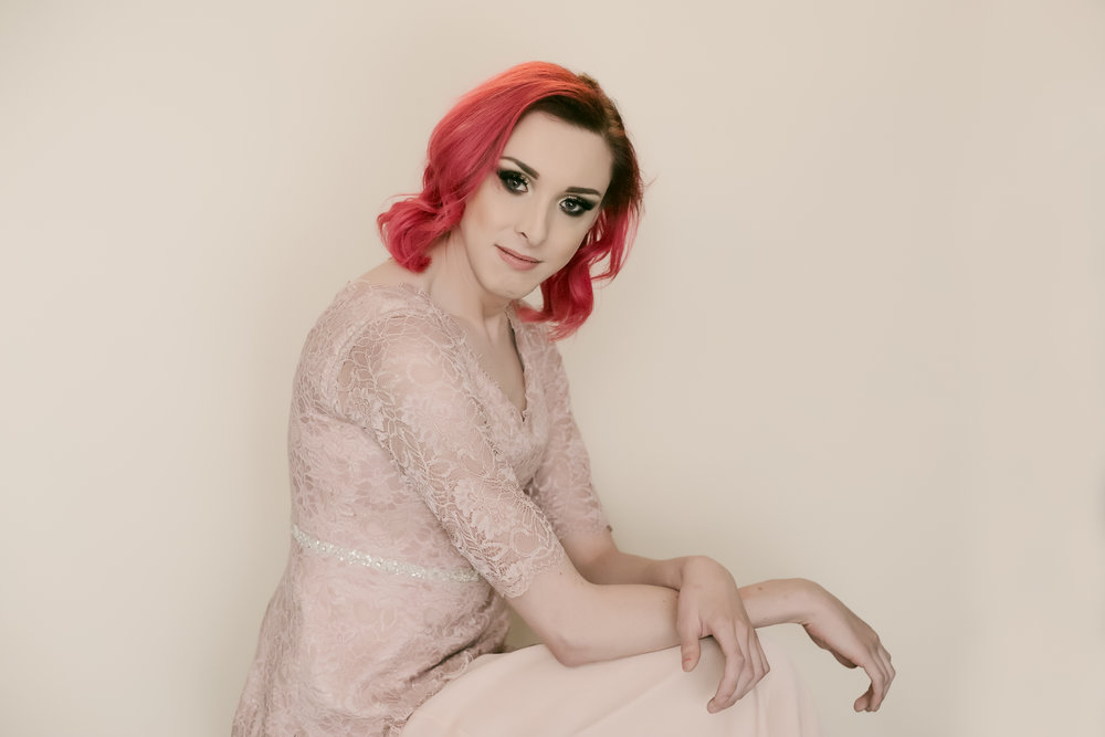 trans woman studio portrait lancashire