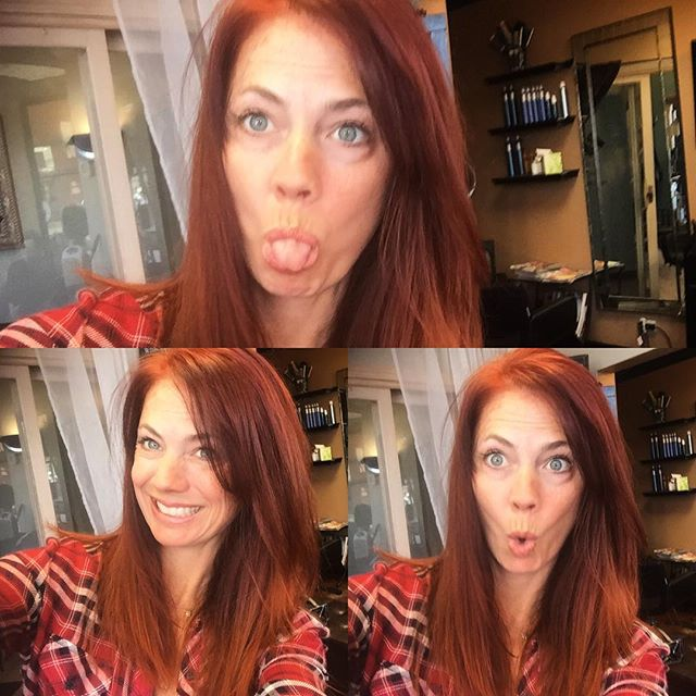This is what happens when your client gets your phone!!! Thanks for the selfie love that racy red!! Perfect color for you Joann💋💄💃💇🏼#haircut #sheartrendzsalon #color book your appointment now!  Www.sheartrendzsalon.com