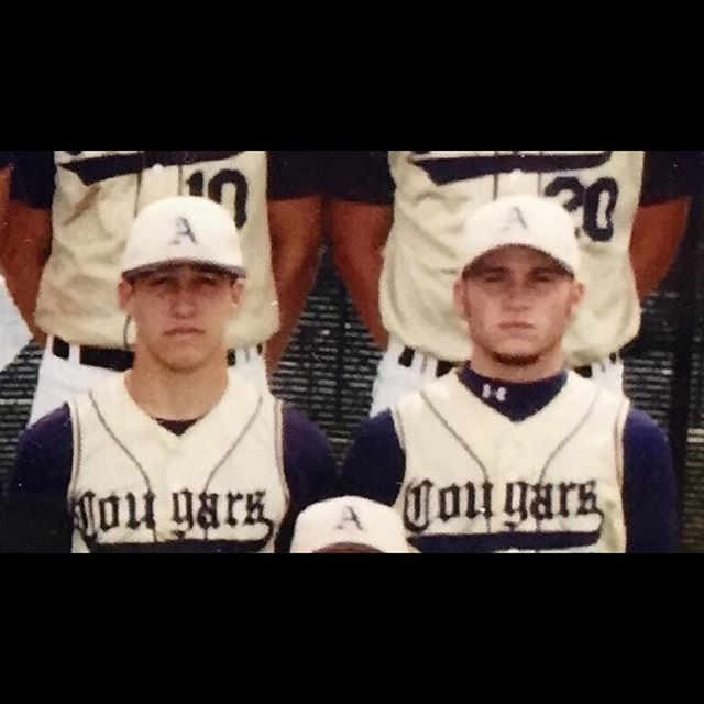 This is a big time #FlashbackFriday! This is back in 2005, which was @dharrington_7 sophomore year and @iambrianlackey senior year of high school at AC. There were countless double-plays turned between these two that year. One fun fact, from that year, is they beat Madison Bumgarner! These were some great times! #heatcoaches #heatbaseballnc #thenextlevel #glorydays #achs #alexandercentralhighschool