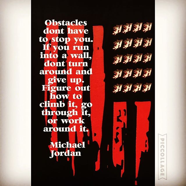 """""""Obstacles don't have to stop you. If you run into a wall, don't turn around and give up. Figure out how to climb it, go through it, or work around it."""" -- Michael Jordan #heatbaseballnc #thenextlevel #buildingathletes #baseball #hardwork #dedication"""