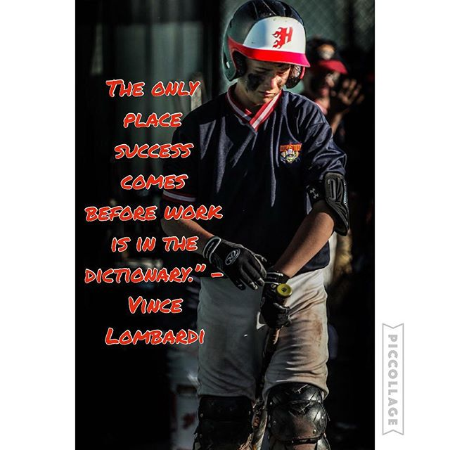 """The only place success comes before work is in the dictionary."""" – Vince Lombardi #heatbaseballnc #thenextlevel #buildingathletes #hardwork #cooperstown @silva_shootz with the pic"""