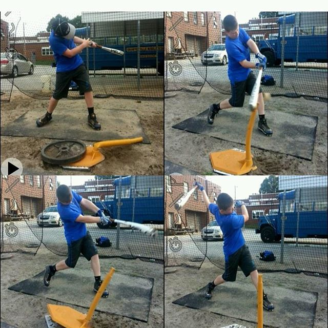 We have some great hitting instructors at our facility. Here is a little work @demgrays24  Jon Gray put in with a kid. Jon is very big on correct movement of the lower half and getting the fullest potential out of your body into a swing. To sign up with Jon go to our website www.heatbaseballnc.com  #heatbaseballnc #thenextlevel #buildingathletes #hitting #hittinglessons