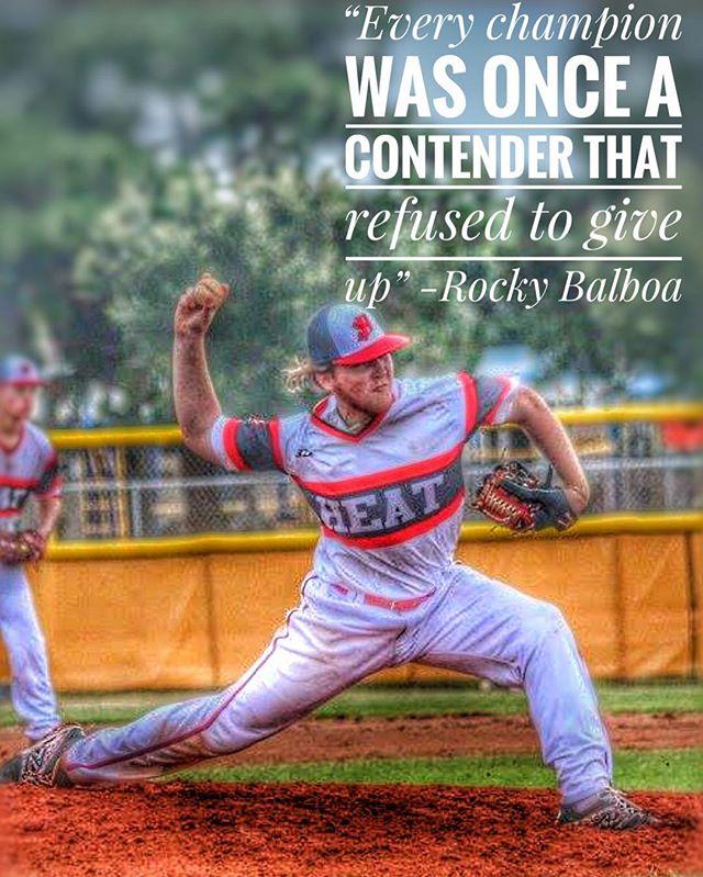 """Every champion was once a contender that refused to give up"" -Rocky Balboa #heatbaseballnc #thenextlevel #buildingathletes #hardwork #dedication #champion #baseball #3n2sports"