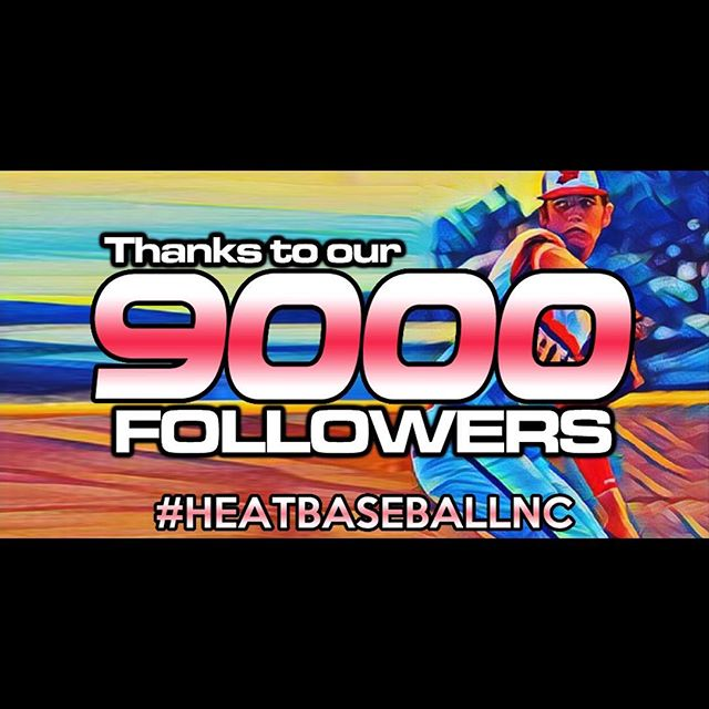 We have reached 9,000 followers! It is exciting for us to see the growth of our organization over the past three years. There is no way that we would be where we are without our Lord and Savior, Jesus Christ, as well as the support from our Heat family. That includes each player and parent/grandparent who have invested so much into us. If you don't have a son playing for us, but follow us on social media, you are included in that. We are honored that you allow us to work with your kids! We do not take that lightly. Thank you to all of the people behind the scenes that do things that go unnoticed. There's no way that we could thank each individual, but just know that we appreciate you! We have come a long way, and are excited to see what the future has in store for our organization! #heatbaseballnc #thenextlevel #buildingathletes #hardworkpaysoff #sports #baseball #teamanchor #3n2sports #4speednc