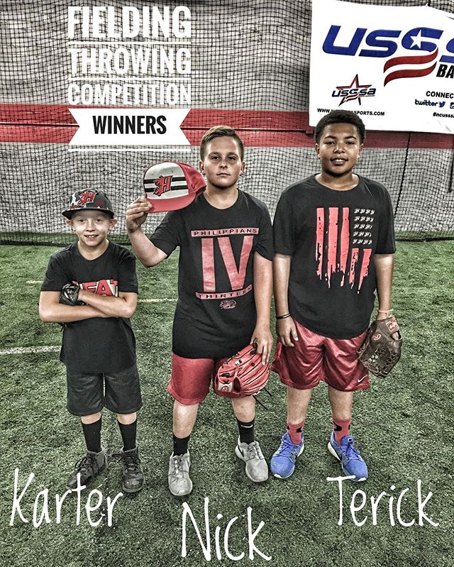 Our winter Camp went extremely well, as our campers were able to get better! Our competition was a great one. Campers competed in throwing, hitting, and speed and agility. The winner of our fielding/throwing competition was Nick (middle)  2nd place Terick (right) and 3rd place was Karter (Left) . We're extremely proud of the effort given by each camper and we expect them to continue getting better! #heatbaseballnc #thenextlevel #buildingathletes #baseballcamp #baseball #fielding #heatcamp