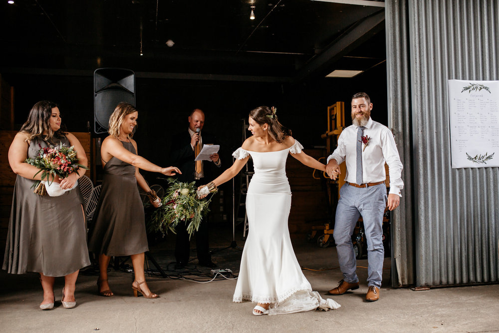Laura's bridesmaids wear, the  Yves Dress  in olive.