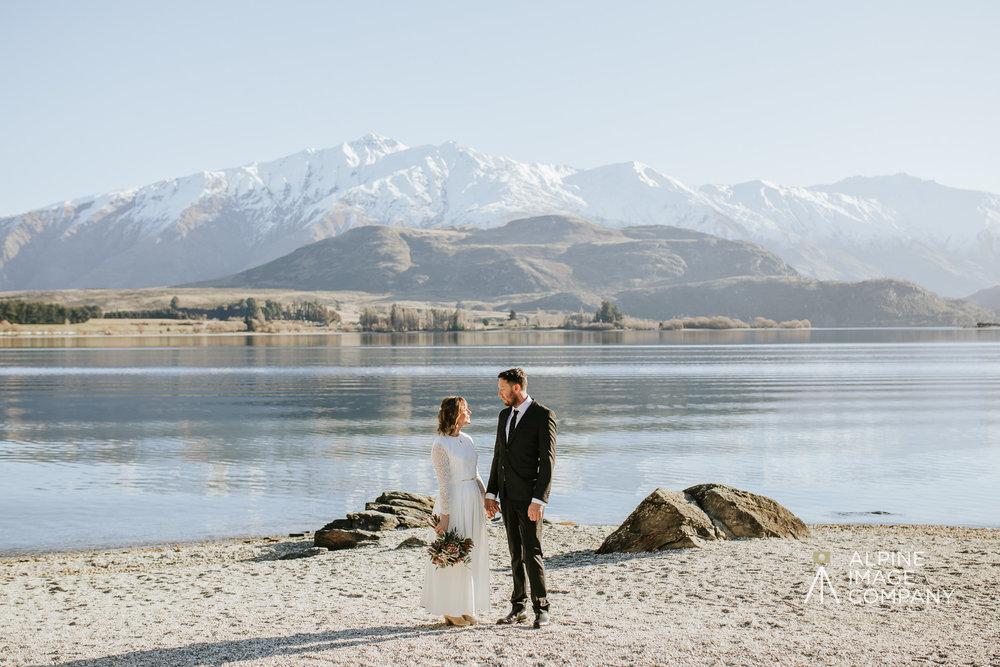 Donna and Michael Custom Bridal Dress New Zealand Elopement