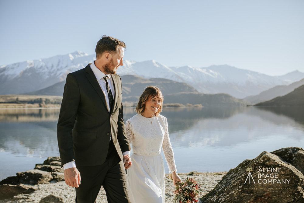 Donna and Michael Custom Two Piece Wedding Dress