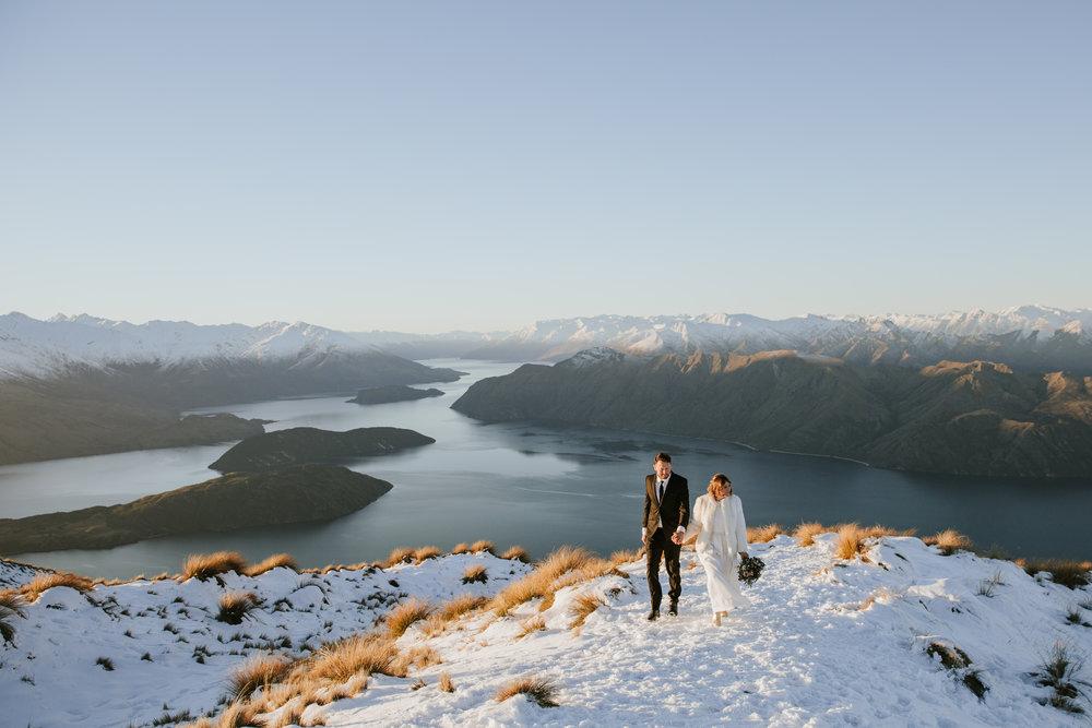 Donna and Michael Custom Wedding Dress Winter Elopement
