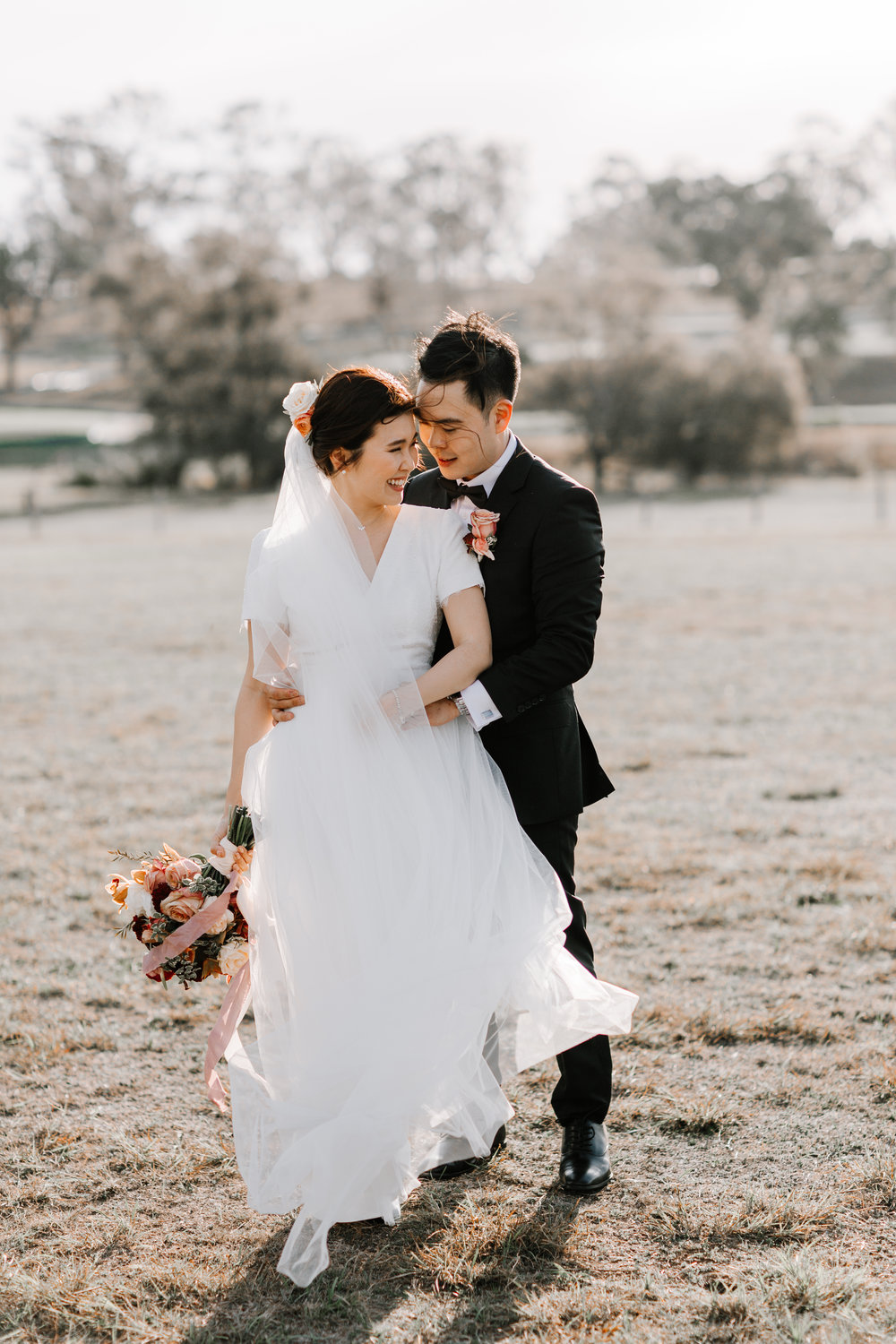 Tiffany and Dave Custom Bridal Dress with Tulle and Lace Bodice