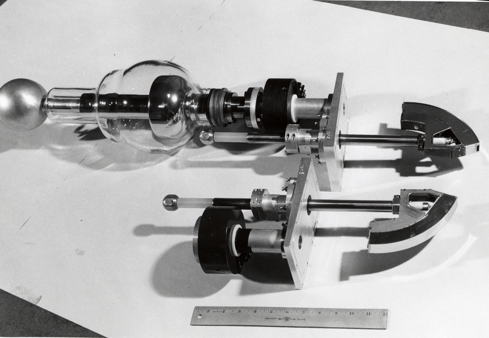 Injector inflector, part of the 50 MeV machine at Midwestern Universities Research Association (MURA). Photo: University of Wisconsin Madison Archives