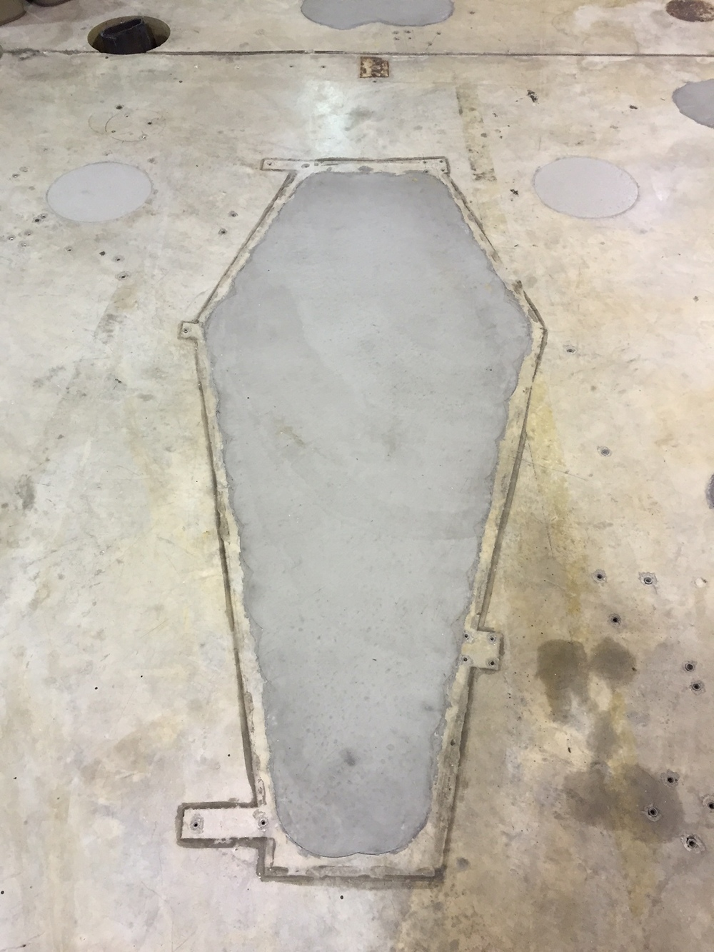 The footprint of one of the former experiments.  Photo: Kristof Wickman / Evan Gruzis