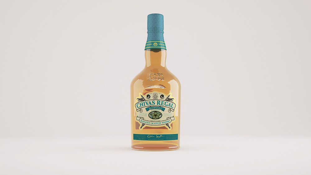 Chivas Regal 3D Product Mock-Up
