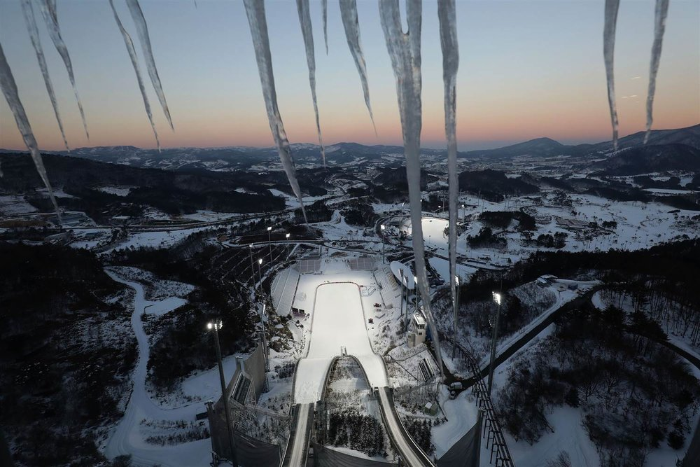 Alpensia ski jumping center for 2018 Olympics (NBC---Chung Sung-Jun / Getty Images)