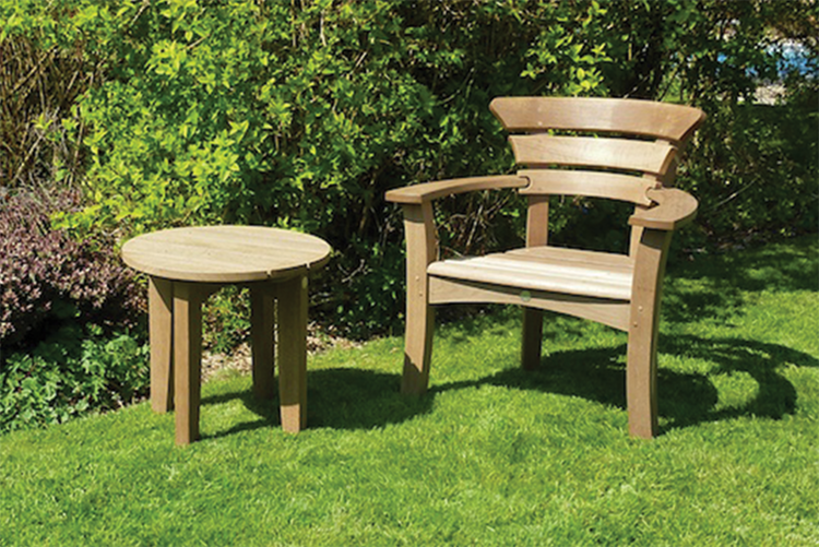Maythrone   Round Court Table. Court Garden Furniture   Outdoor Furniture Collection  Hampshire