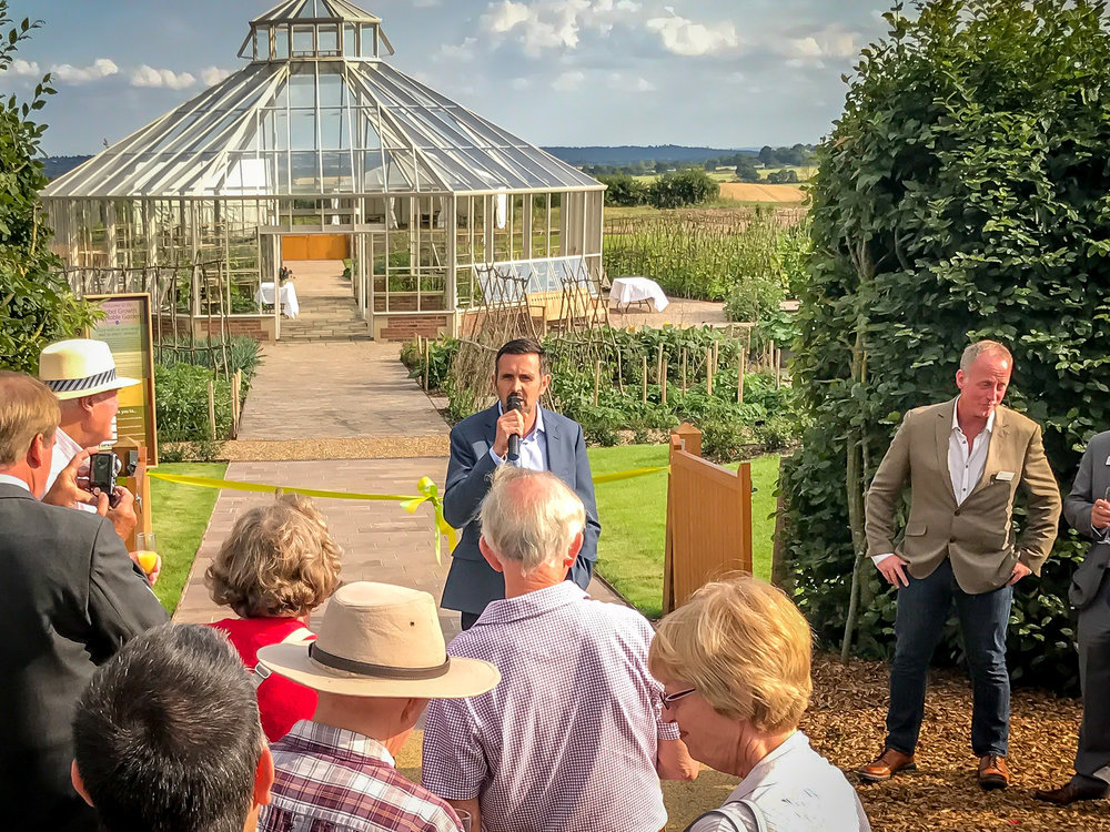 Adam Frost, Garden Designer and seven time Chelsea Flower Show Gold Medal winner, opens the garden