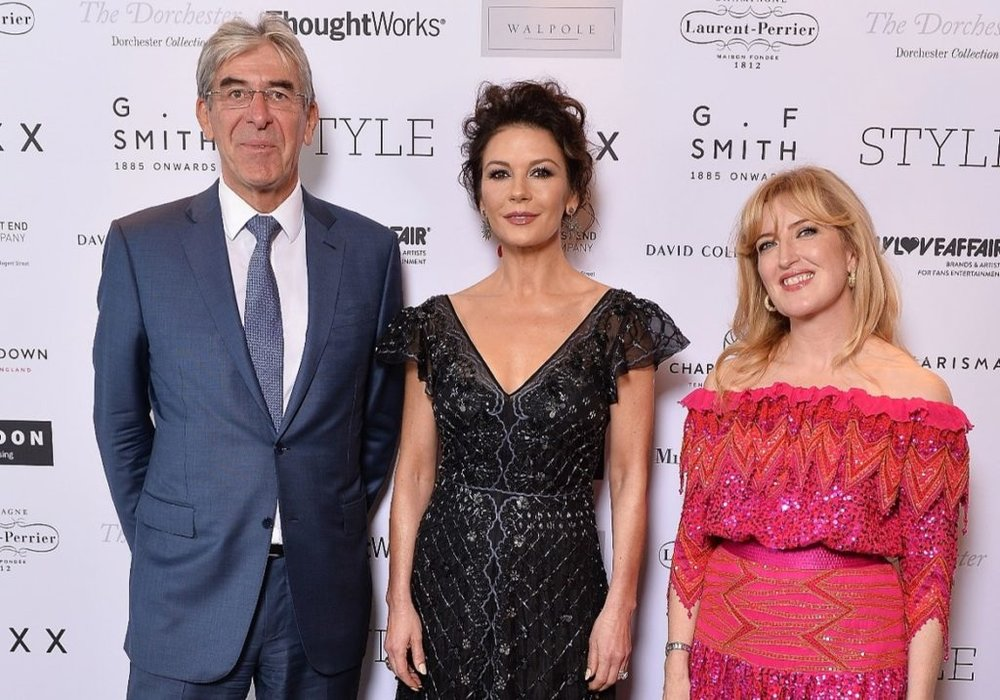 Michael Ward, Managing Director, Harrods, Catherine Zeta-Jones and Helen Brocklebank, CEO, Walpole