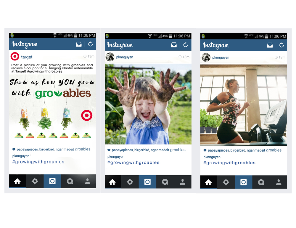 Instagram post challenge and user generated content, designed by Andrea Mikeska