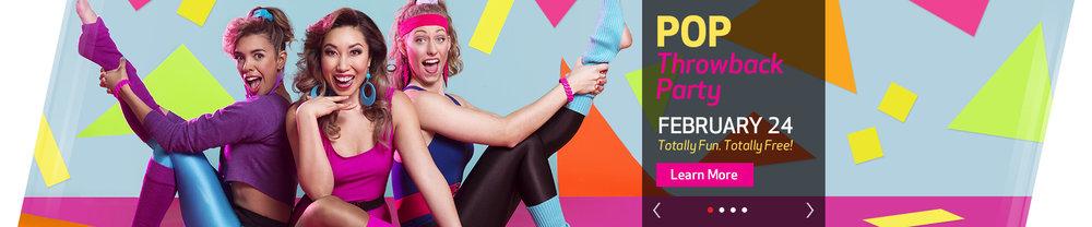 24 Hour Fitness Web slider design