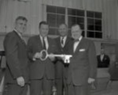 CEO Henry Ford II visit to Ford Motor Company Glass Plant, Nashville, Tennessee, 1961 May 10  Source: http://digital.library.nashville.org/cdm/search