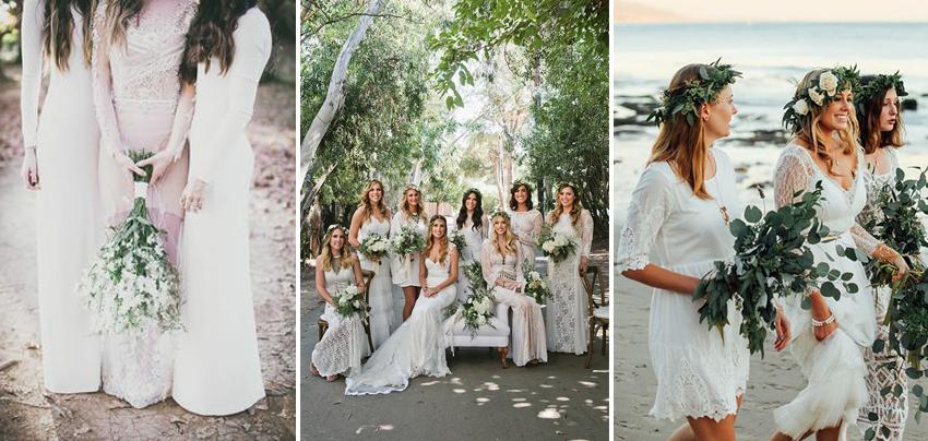 White Wedding Colour Theme Ideas Lilac White