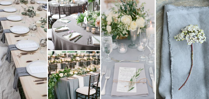 Grey Wedding Theme Colour — LILAC & WHITE