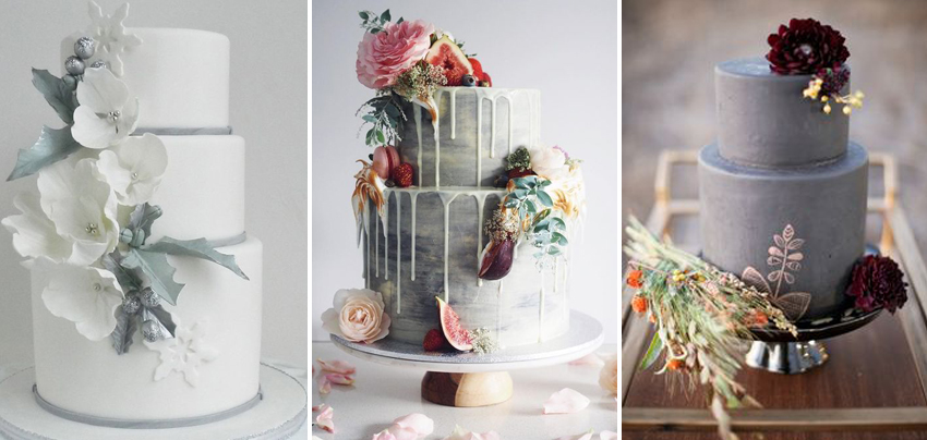 Sweet Saucy Shop Make This Dark Grey Wedding Cake Look Exceptional Dont Forget Your Flowers Can Be Added To Any Simple For Instant