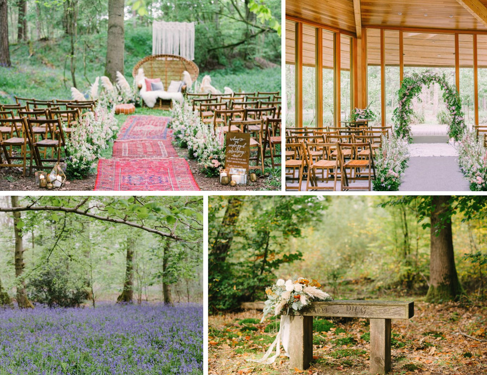 Top left image from Hannah Duffy Photography, other three images courtesy of Greenacres Woodland