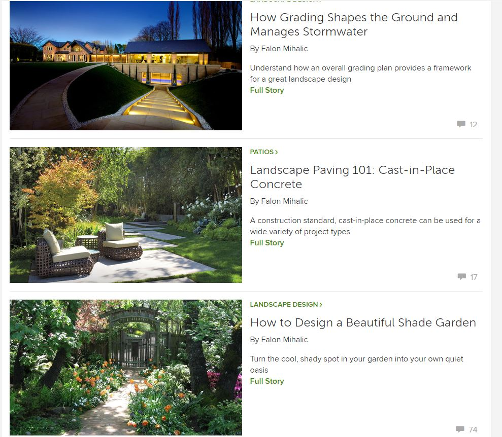 Featured Writer, Houzz.com