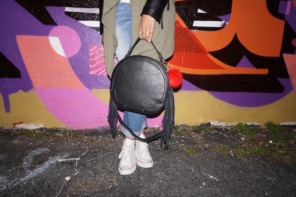 Kelsey Rocker Fringe Bag