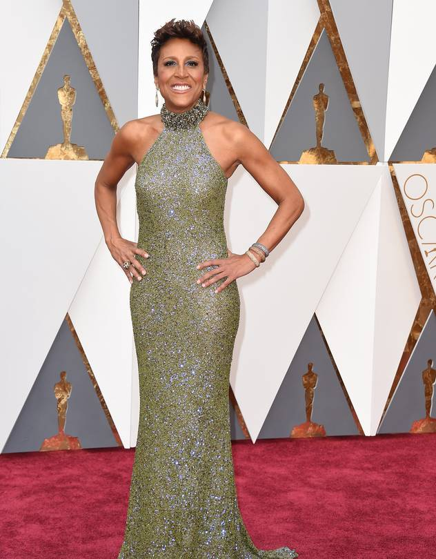 ABC's Good Morning America Anchor Robin Roberts looked stunning and wore jewelry by David Yurman.