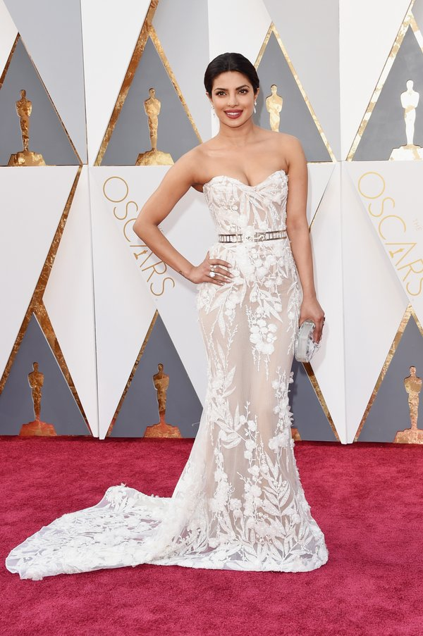 Actress Priyanka Chopra looked absolutely gorgeous wearing a sheer gown by Zuhair Murad.