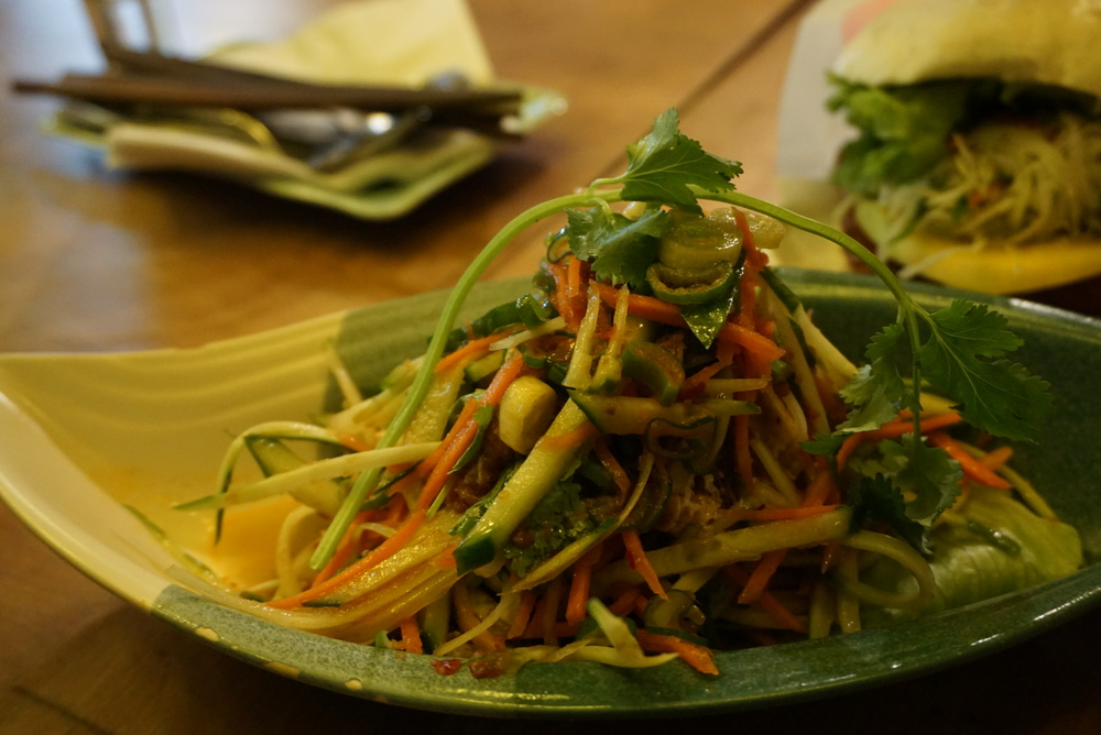 Fresh papaya salad.