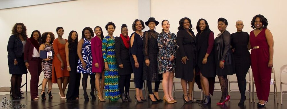 Makeba along with the honorees of women in media at the Brown Women In Media Brunch on November 5th, 2016.